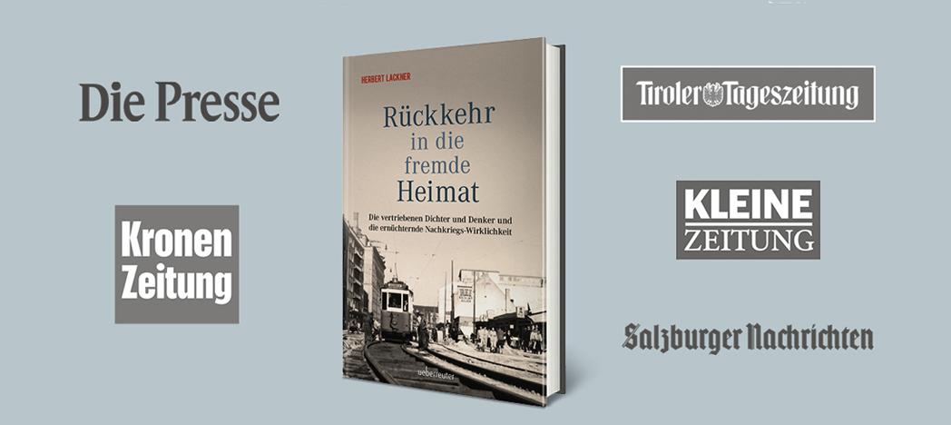 """Wir freuen uns über fantastische Pressestimmen zum neuen Buch von Herbert Lackner """"Rückkehr in die fremde Heimat"""""""